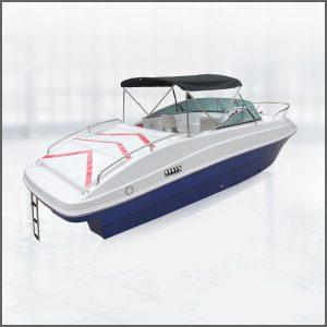 24 Feet Fiberglass Boat with Cabin